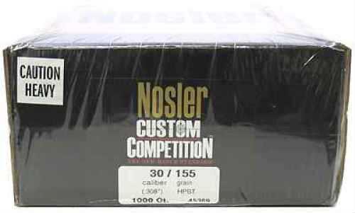 Nosler 30 Caliber 155gr Custom Competition HPBT (Per 1000) 45369