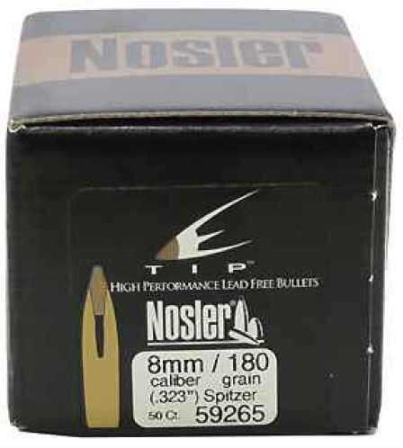 Nosler 8mm 180gr E-Tip, (Per 50) 59265