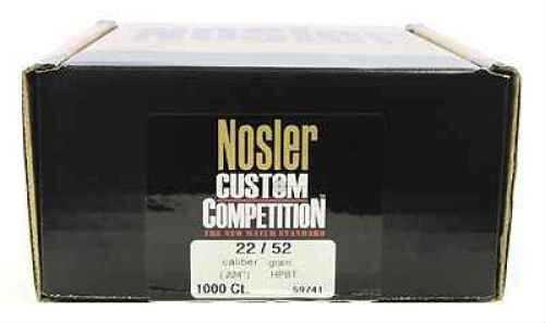 Nosler 22 Caliber (.224) 52gr Custom Competiton HPBT (Per 1000) 59741