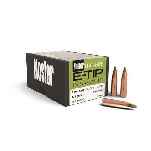 Nosler 7mm 140gr E-Tip, (Per 50) 59955