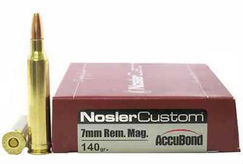 Nosler 7mm Remington Magnum 140gr AccuBond (Per 20) 60033