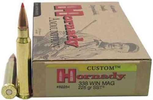 Hornady 338 Winchester Magnum Ammunition SST, 225gr (20 Per Box) 82234