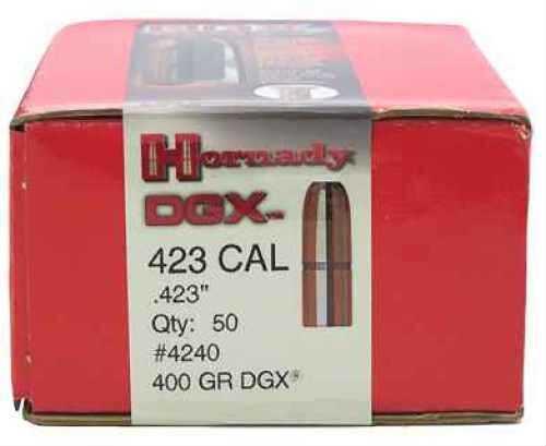 """Hornady 423 Caliber Bullets .423"""" 400gr DGX (Per 50) 4240"""