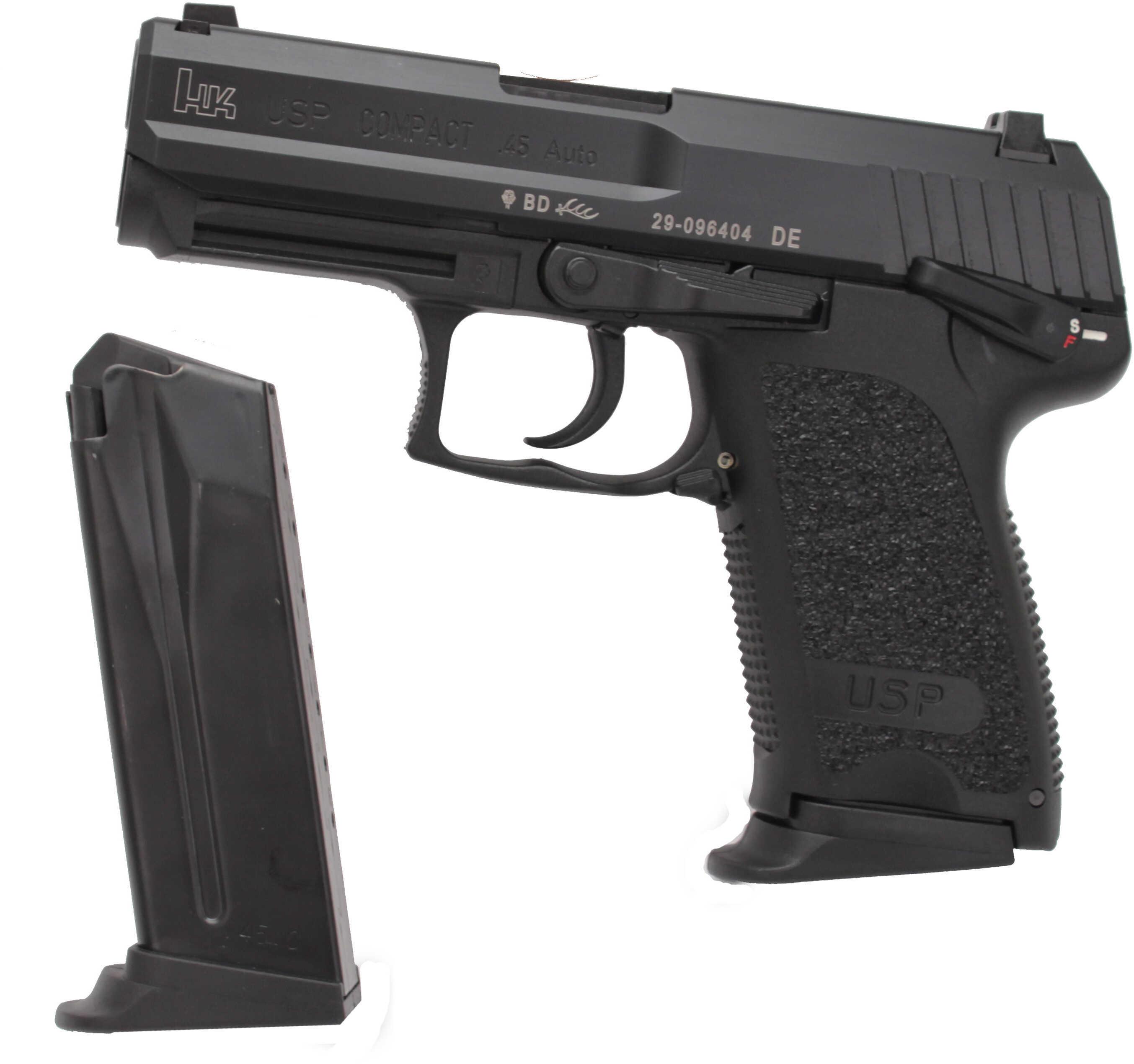 Heckler & Koch USP45C 45 ACP Compact Blued Finish 2-8 Round Semi Automatic Pistol 704531