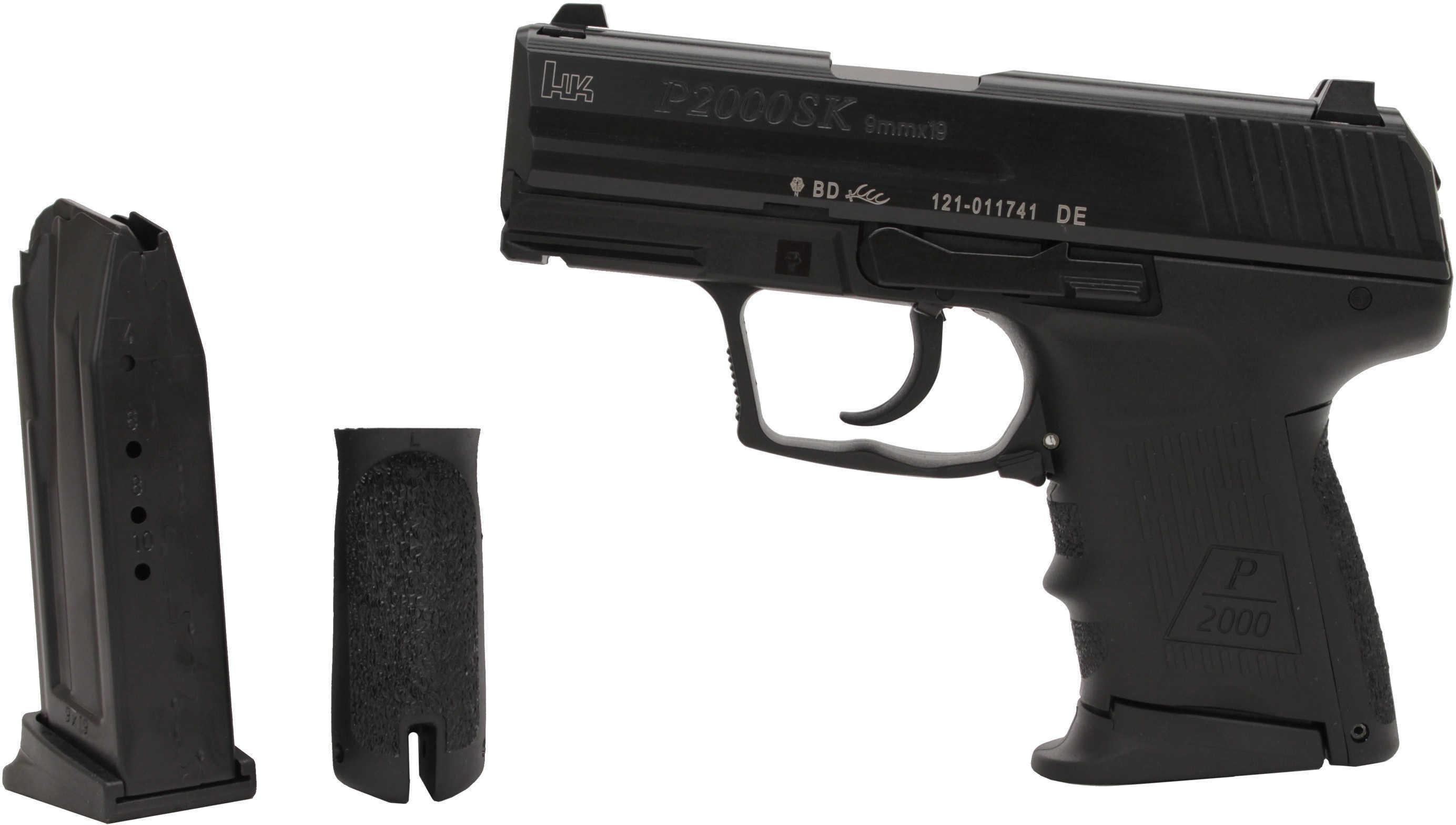 "Heckler & Koch P2000Sk V2 9mm Luger 2.5"" Subcompact 2 10 Round Pistol 709302"