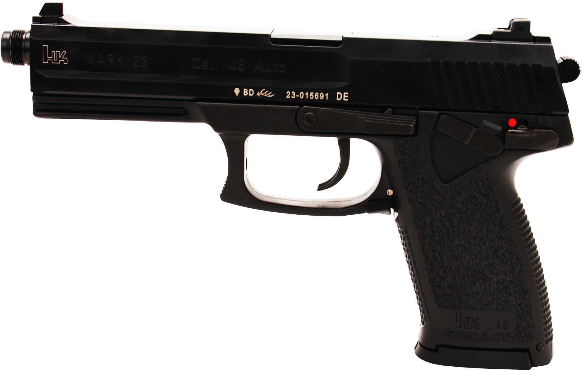 Heckler & Koch Mark 23 45 ACP 2-12 Round Mags Black Finish Semi Automatic Pisto l M723001