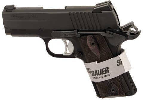 Sig Sauer 1911 Ultra Compact 45 ACP Black Nitron Stainless Steel Lpow Profile Night Sights Semi Automatic Pistol 1911U45BSS
