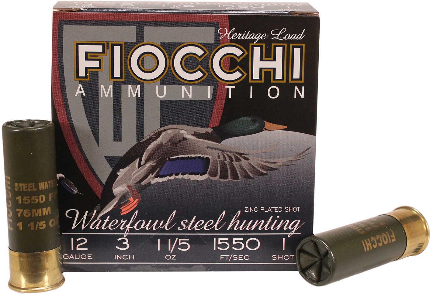 "Fiocchi Ammunition Speed Steel 12 Gauge 3"" (Per 25) Size 1, 1 1/5 Oz Md: 123St151"