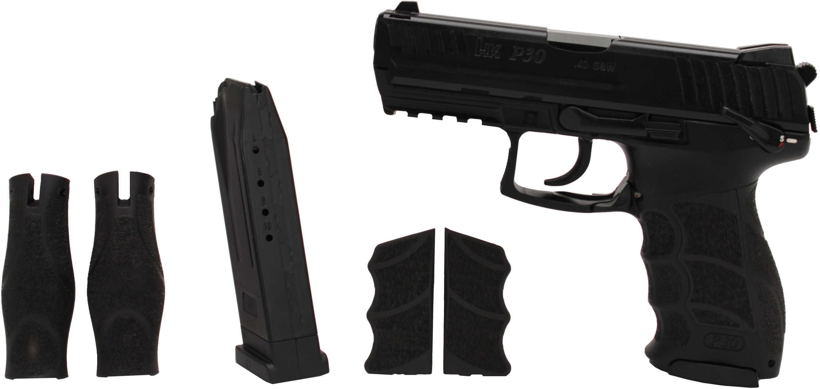 "Heckler & Koch P30S V3 40 S&W 3.86"" Barrel 10 Round Double/Single Action Ambidextrous Safety Decocker Semi Auto Pistol M734003S-A5"