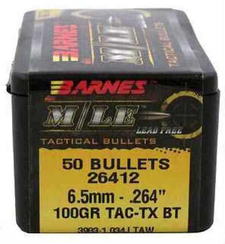 """Barnes Bullets 6.5mm Caliber Bullets .264"""" 100gr TACTX BT (Per 50) 26412"""