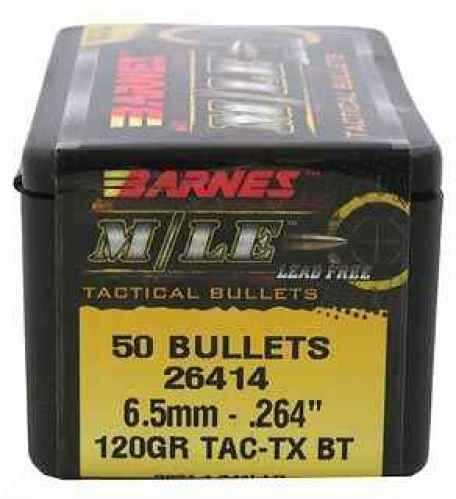 """Barnes Bullets 6.5mm Caliber Bullets .264"""" 120gr TACTX BT (Per 50) 26414"""