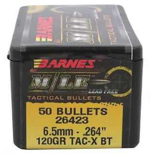 """Barnes Bullets 6.5mm Caliber Bullets .264"""" 120gr TSX BT (Per 50) 26423"""