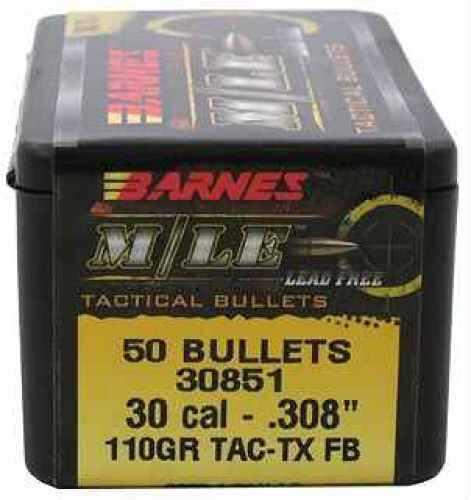 """Barnes Bullets 30 Caliber .308"""" 110gr TAC-TX Flat Base (per 50) 30851"""