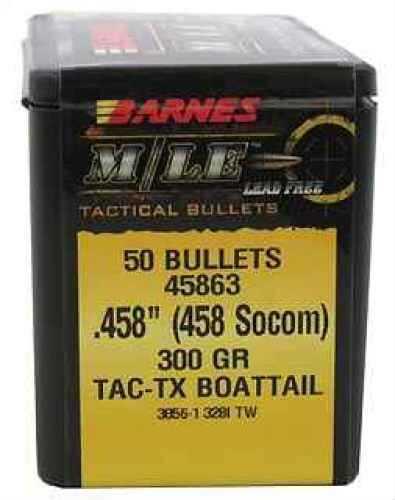 Barnes Bullets 458 Socom 300 Grain TACTX Boat Tail (Per 50) 45863