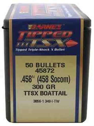 Barnes Bullets 458 Socom 300 Grain TTSX Boat Tail (Per 50) 45872