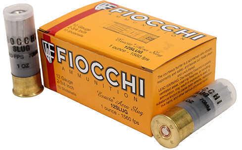 """Fiocchi Ammo 12 Gauge 2 3/4"""" 1 oz Lead Rifle Slug 10 Rounds Per Box Ammunition Md: 12SLUG"""