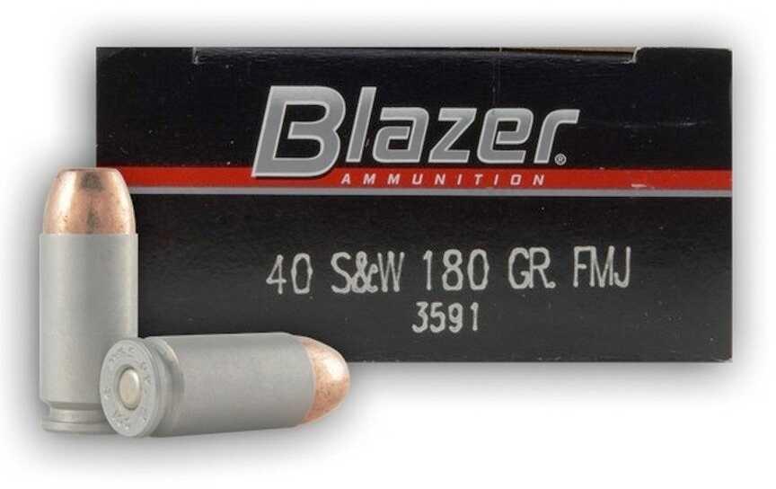 CCI/Speer Blazer 40 S&W 180 Grain Full Metal Jacket 50 Round Box 3591