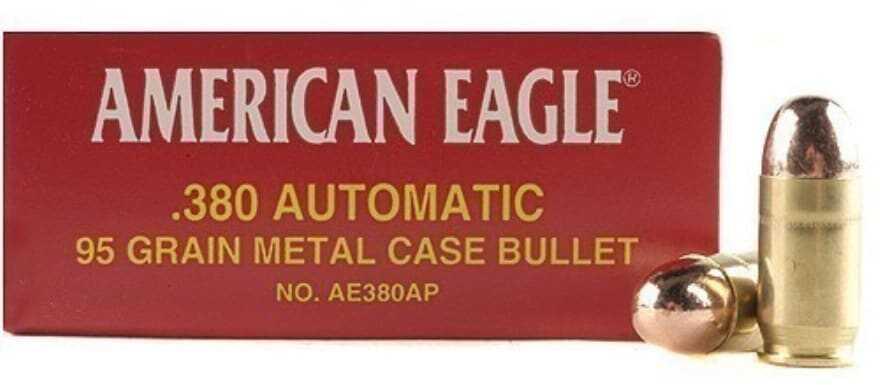 Federal American Eagle 380 ACP 95 Grain Full Metal Jacket 50 Round Box AE380AP
