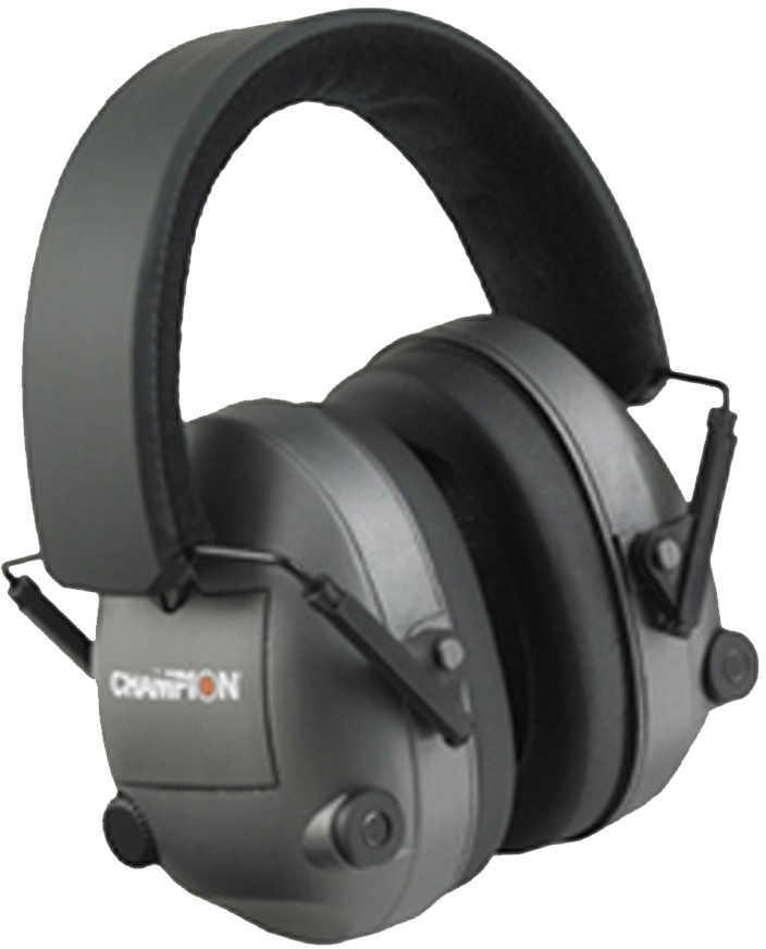 Champion Traps & Targets Earmuffs Electronic 25dB NRR Plastic Black 40974