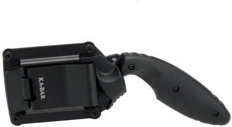 "KABAR TDI Law Enforcement 2.3"" Fixed Blade Knife Drop Point Nylon Sheath Plain Edge AUS 8A/Black Finish Black Zytel Hand"