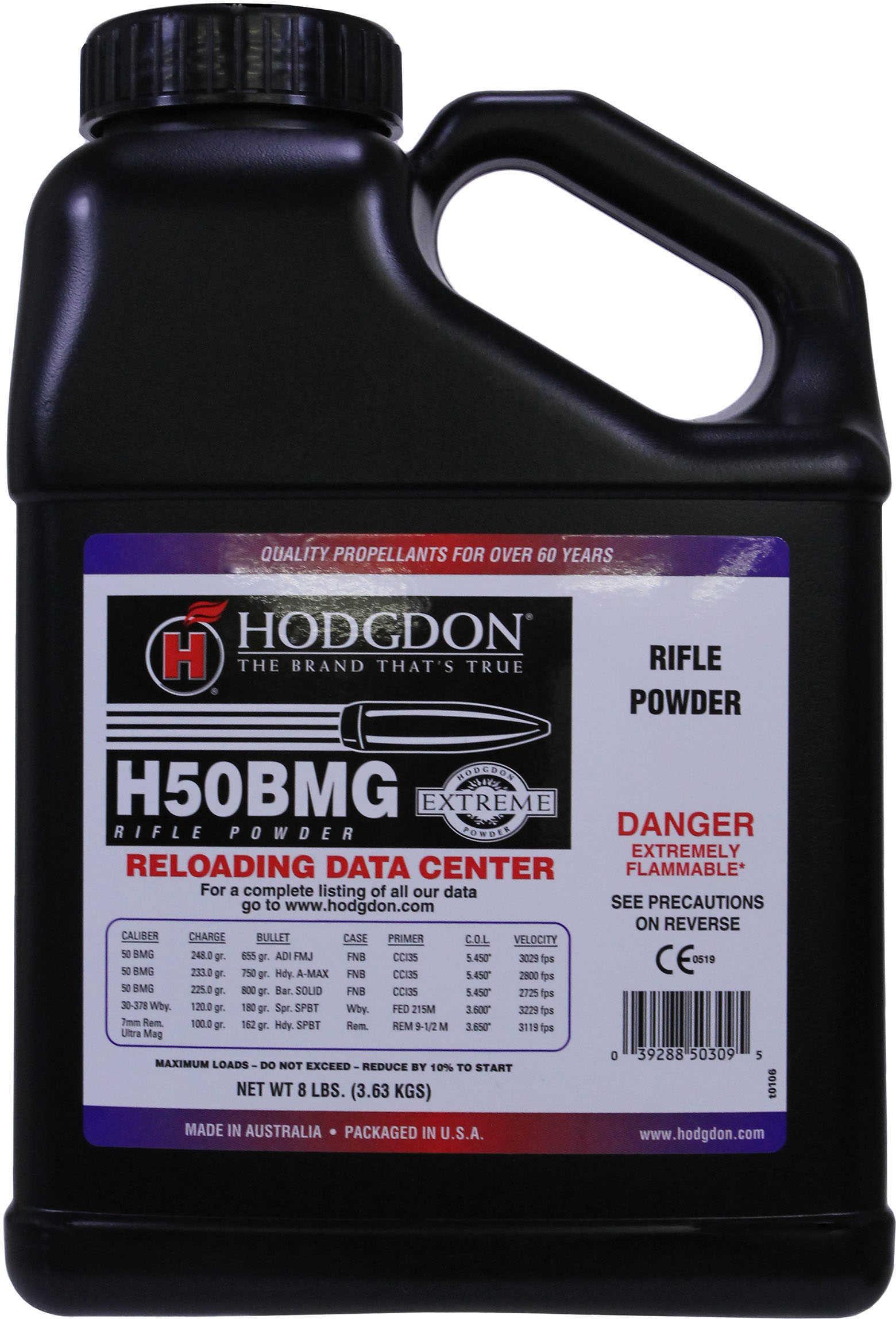 Hodgdon Powder H50BMG Smokeless 8 Lb