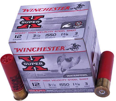 "Winchester XPERT HV Steel 12 Gauge 3.5"" 1 3/8Oz #3 25 Rounds Ammunition WEX12L3"