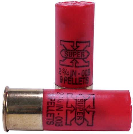 "Winchester Ammunition Super-X 12 Gauge 2.75"" 00 Buck Buckshot 9 Pellets 5 Round Box XB1200"
