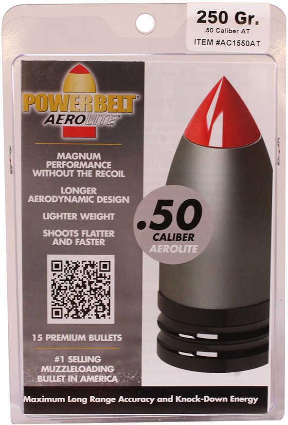 Powerbelt Bullets AeroLite AeroTip 50 Caliber Bullets (Per 15) 250 Grains AC1550AT
