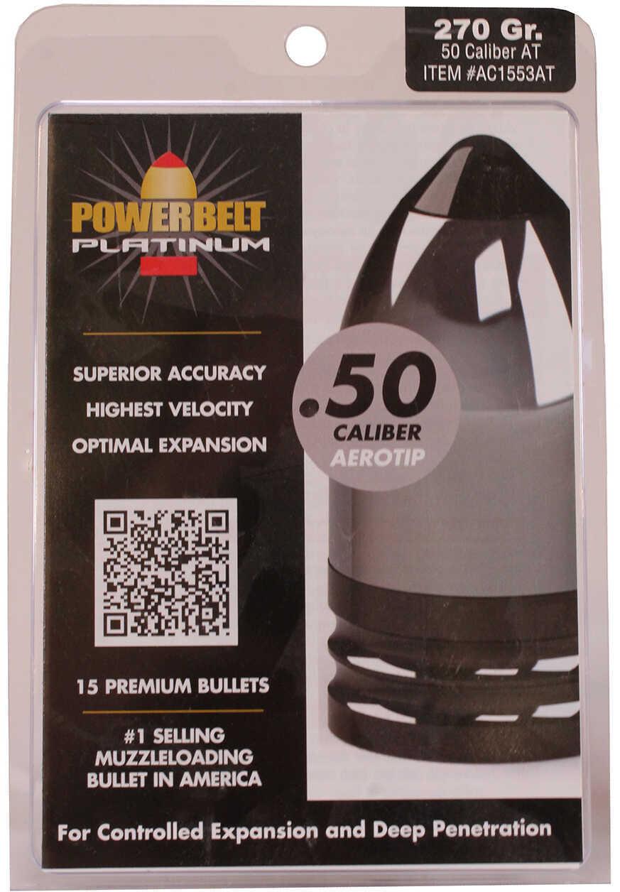 Powerbelt Bullets Platinum AeroTip 50 Caliber Bullets (Per 15) 270 Grains AC1553AT