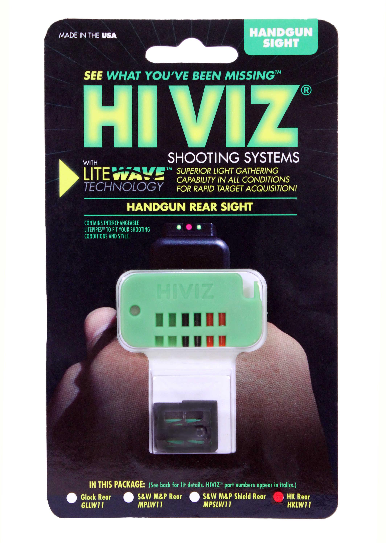 Hi-Viz Litewave Sight Fits H&K P30 45 Rear Only Include Litepipes and Key HKLW11