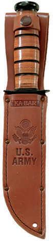 Ka-Bar US Military Fighting/Utility Knife U.S. Army, Straight Edge, With Leather Sheath 2-1220-8