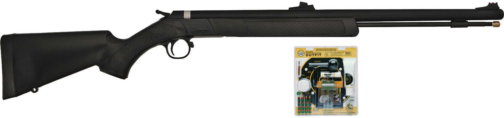 CVA Wolf Muzzle loader w/Accessory Outfit Black .50 Model: PR2110VP