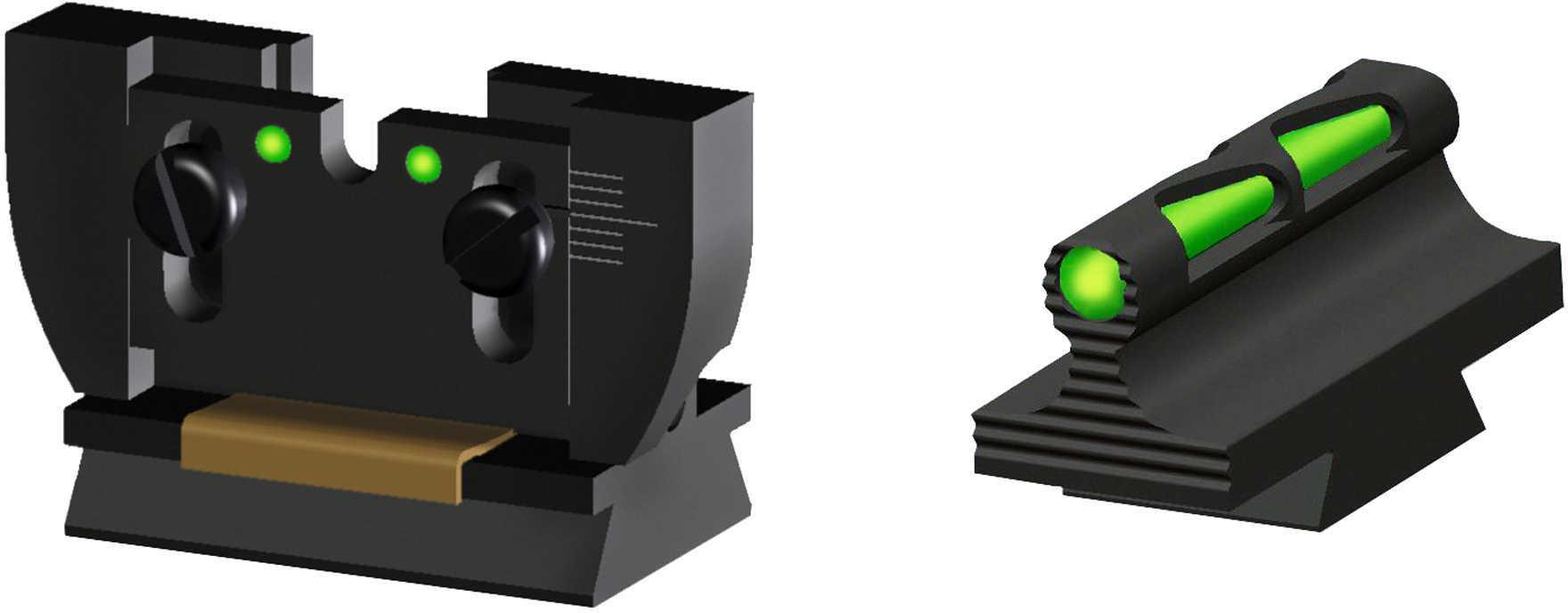 Hi-Viz Litewave Sight Fits Rug 10/22 3 Color Red White Green Front/Rear RG1022