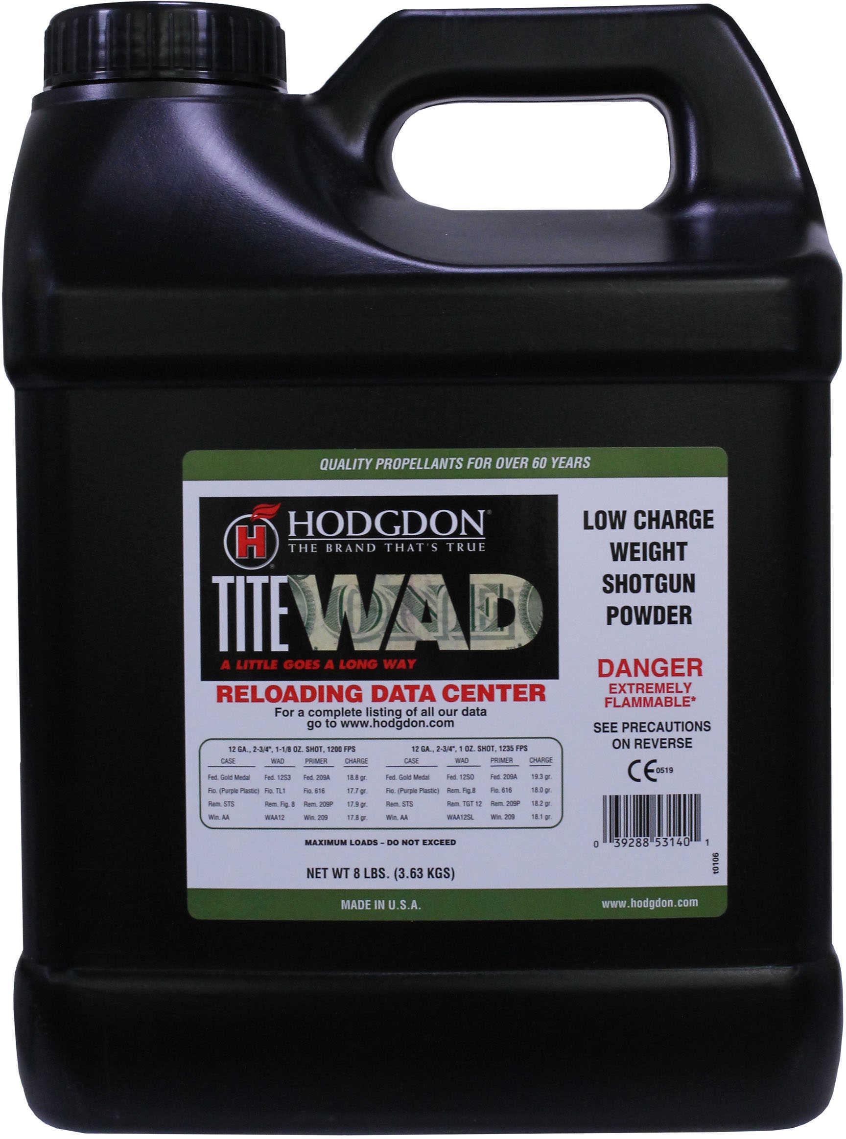 Hodgdon Powder Titewad Smokeless 8 Lb