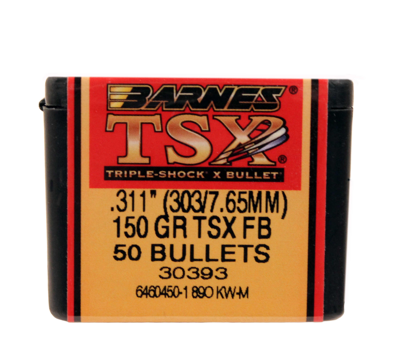 Barnes Bullets 303 Caliber, 150 Grain, Triple Shock X ...