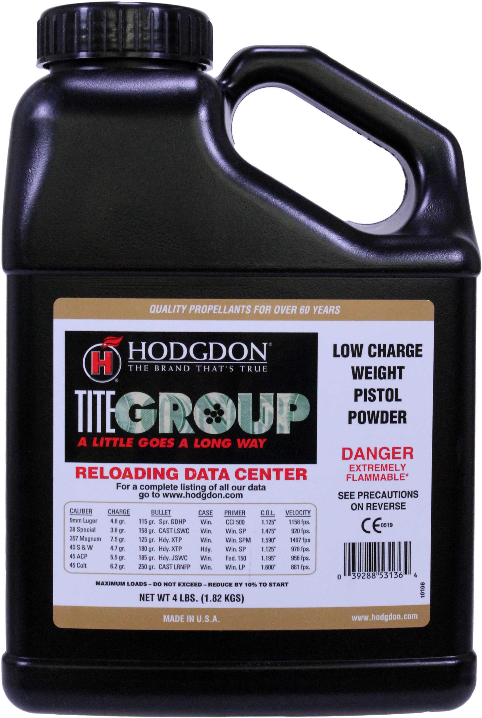 Hodgdon Powder Titegroup Smokeless 4 Lb