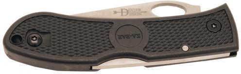 "KABAR Dozier Hunter 3"" Folding Knife Clip Point Plain Edge AUS 8A/Satin Black Zytel Oval Thumb Hole/Pocket Clip 4065"