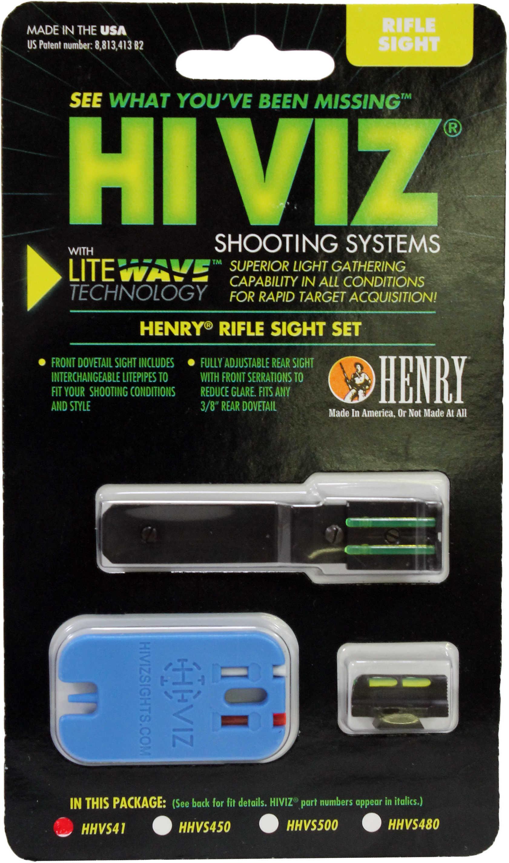 HiViz Sight Systems HiViz Henry Big Boy Sights For H006, H012 and H012R, Green/Red/White Md: HHVS41