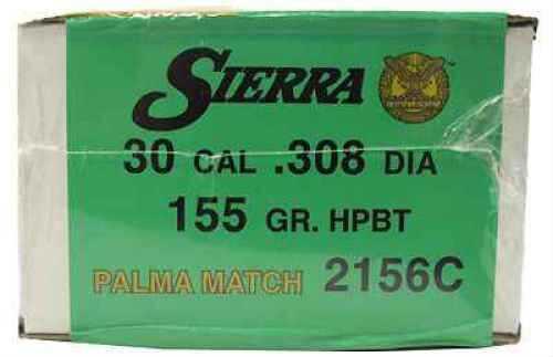 Sierra 30 Caliber 155gr Hollow Point Boattail Match Palma (Per 500) 2156C