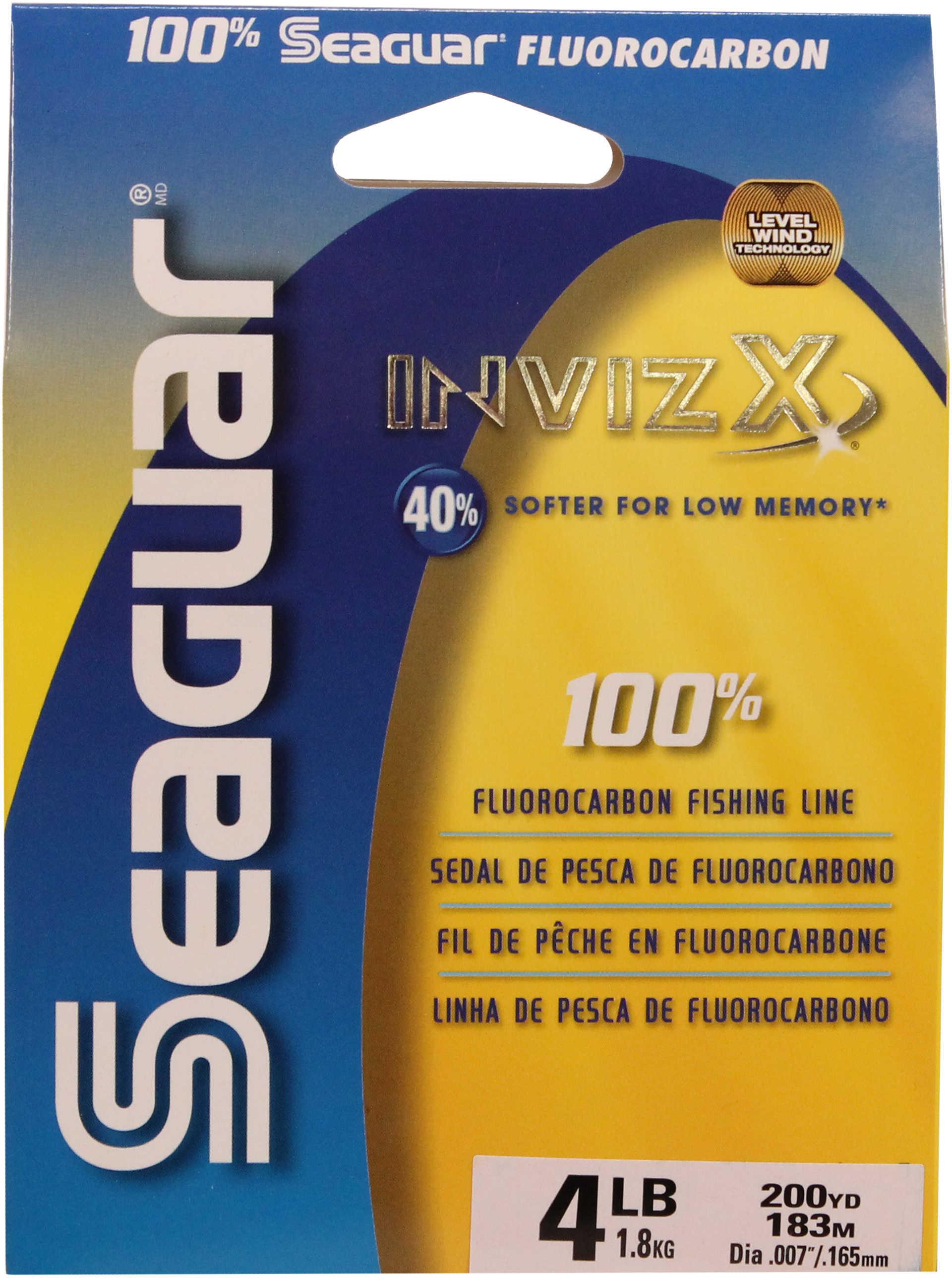 Seaguar / Kureha America Seaguar Inviz X Fluorcarbon Clear 200yds 4lb Md#: 04VZ-200
