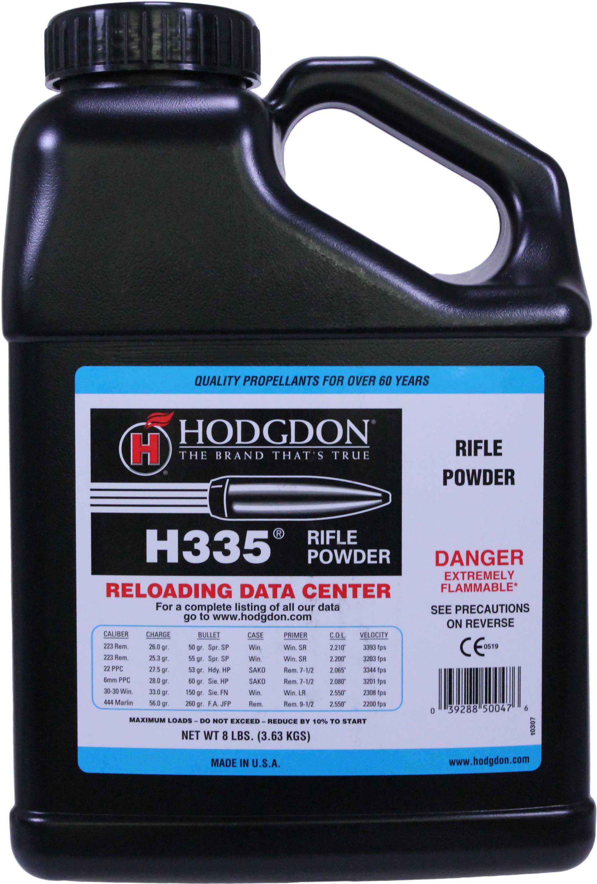 Hodgdon Powder H335 Smokeless 8 Lb