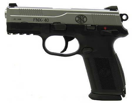 FNH USA FNX-40 DA/SA Manual Safety, 40 S&W 14 Round Capacity Stainless Steel Slide, Black Frame Semi Automatic Pistol 66856