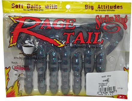 Strike King Lures Strike King Rage Craw 4in 7pk Junebug Md#: RGCRW-42
