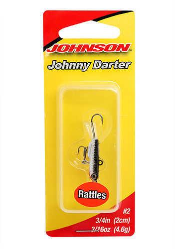 "Johnny Darter Hard Bait Lure 3/4"" Length, 1/8 oz, 2 Number 10 Hooks, Chrome Black, Per 1 Md: 1428634"