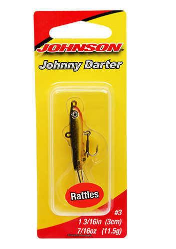 """Johnny Darter Hard Bait Lure 1 3/16"""" Length, 3/8 oz, 2 Number 10 Hooks, Black/Gold, Per 1 Md: 142864"""