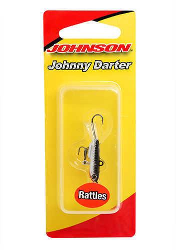 """Johnny Darter Hard Bait Lure 1 3/16"""" Length, 3/8 oz, 2 Number 10 Hooks, Vhrome/Black, Per 1 Md: 1428"""