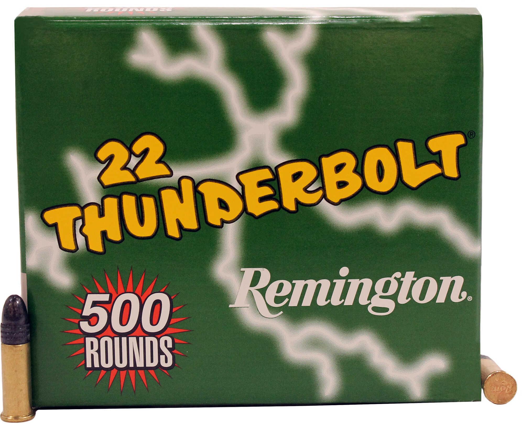 Remington Thunderbolt 22LR 40 Grain Round Nose Hi-Velocity 500 Round Case 21241
