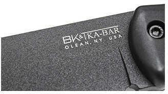 "KABAR Becker Companion 5.25"" Fixed Blade Knife Drop Point Plain Edge 1095 Cro-Van/Black Black Grivory Nylon Sheath BK2"