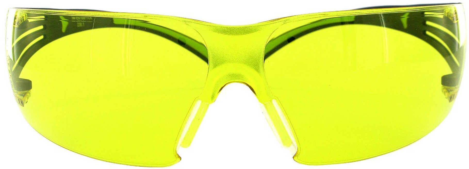Shooting Glasses 400Pa8 Black/Green Frame/Amber Lens