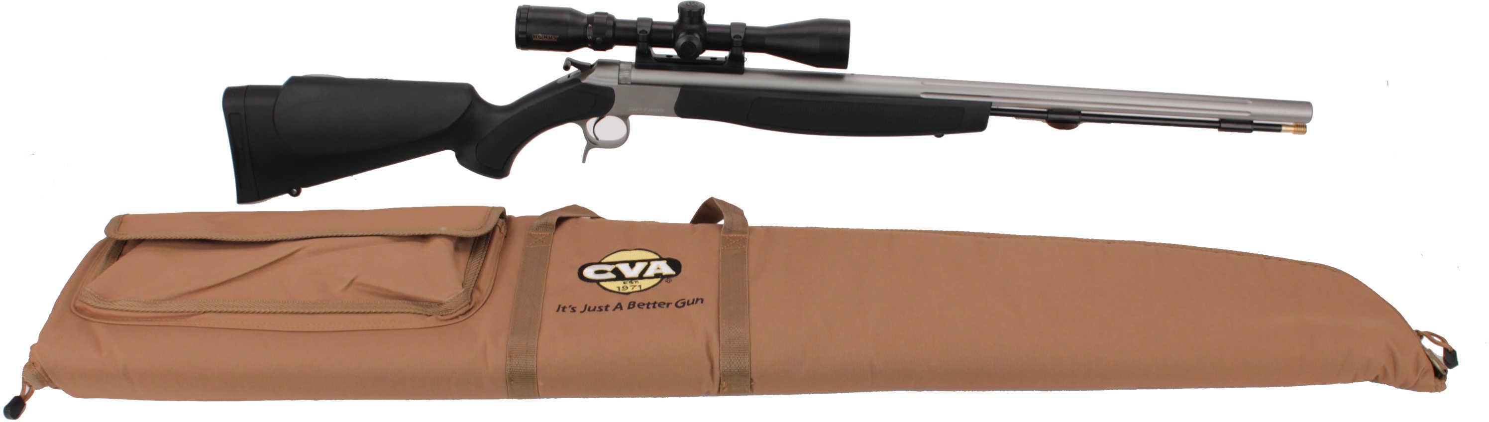 CVA Optima V2 Stainless Steel/Black 50 Caliber w/Konus Pro Scope PR2020SSC